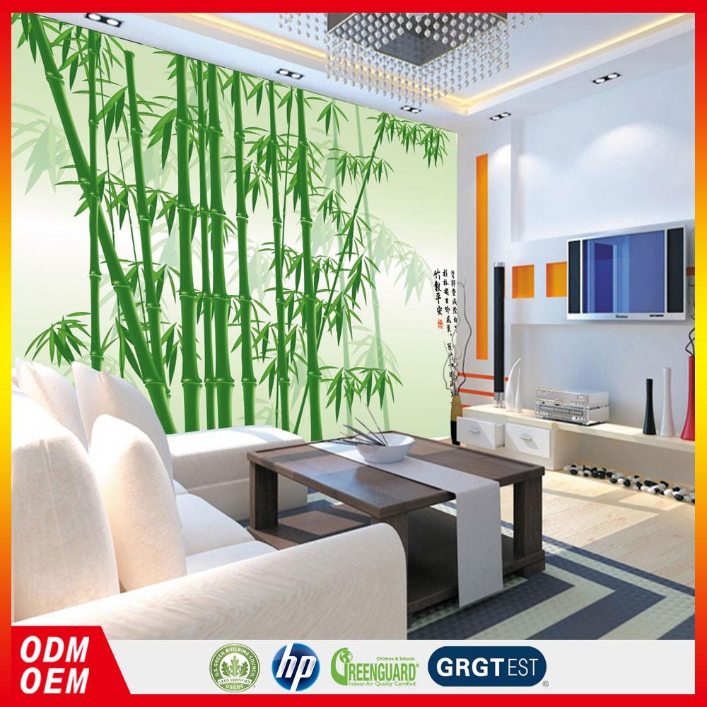 Grüner bambus tapete dekorative kunststoff vinyl tapete bamboon ...