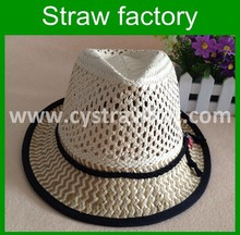 2015 Fashion Design Children's Fedora Paper Straw Hat