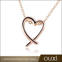OUXI factory price alloy best friends pendant necklaces 11277-2