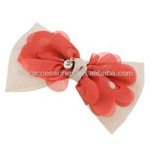 2014 New arrival fahsion korean pierced flower hair barrette for hair ornaments