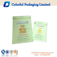 2015 factory price empty 250g or 1kg plastic tobacco packaging bag with zipper and tear made in China