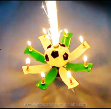rotating music birthday candle