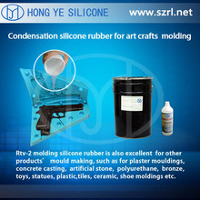 RTV Silicone Rubber for poly resin, epoxy, polyurethane-polymer, plaster, gypsum casting and moulding
