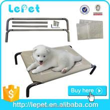 elevated orthopedic chewproof steel frame pet dog bed