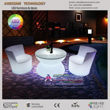 LED illuminated garden use outdoor furniture / event party plastic outdoor furniture
