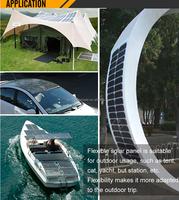 Hot selling High Efficency Semi-flexible Solar Panel 120W With Sunpower Cells for Car boat bike etc