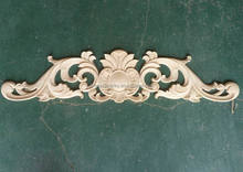 Antique imitation style solid wood decorative carved appliques