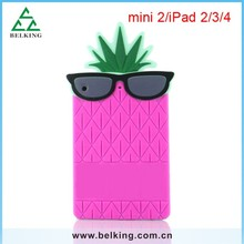 With Glass Cool Animal 3D Case For iPad Mini, For iPad Mini Colorful Slim Silicone Case