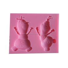 Pastel congelado molde de silicona de la decoración