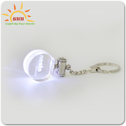Custom Hot Popular Series LED key chain Big Collection of LED crystal keychain flashing light up presents for festival