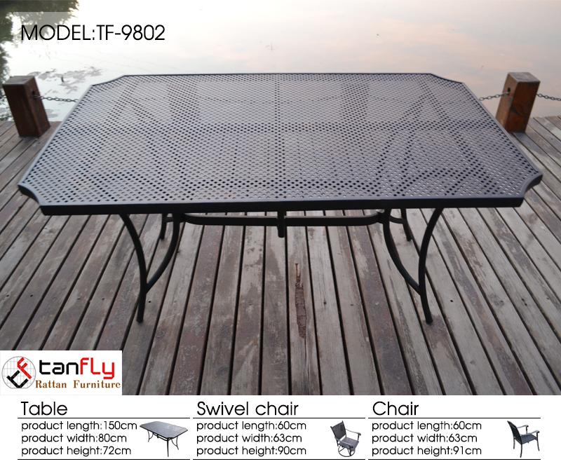 파티오 식사 설정 야외 테이블 의자 7 PC 뒤뜰 가구 주조 알루미늄 ...