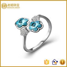 Flower rings wedding party engagement gift occassion 925 real silver jewelry ring