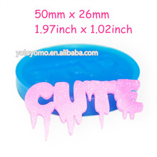JYL180 Creepy CUTE Silicone Mold - Cake Decorating Fondant Sugarcraft Gum Paste Resin Candles Biscuit Mould