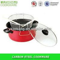 non-stick coating carbon steel any color deep frying pan cookware ,kitchen utensils dinner ware