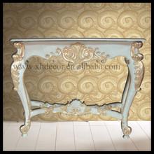 francés oro adornado de la pared de la consola de mesa de la consola foyer mesas para la venta