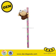 plastic toys pencil pen with kid cartoon toys promotional product good toys maker