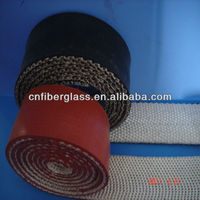 Texturized silicone rubber tape of fiberglass for protecting hoses and cables
