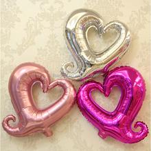 2015 New Design EN71 customized hollow heart shaped foil balloons