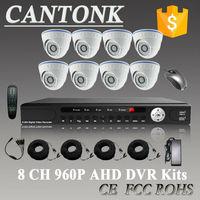 2015 Original 8CH CCTV System 960P AHD DVR 8PCS 1.3 MP IR CCTV Security Camera System 1300tvl AHD Kits