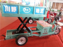 650W farm electric cargo box tricycle/ liftable and lowerable