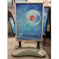 Double side wind resistant pavement sign water filled durable base poster stand