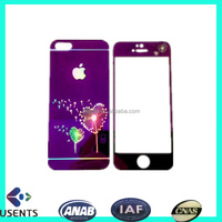 hot sale coloured screen protector film for Iphone, mobile Tempered Glass screen protector