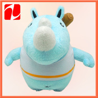 2014 Hot selling custom high quality inflatable rhino /plush animal rhino toy