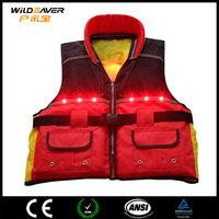 Emergency LED light waist life jacket