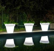 2015 NEW decorative led light mini artificial flower pot