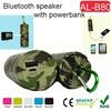 power bank with bluetooth speaker,speaker mobile power,portable for ourdoor travel speaker