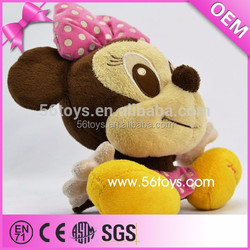 2015 Hot Sale Plush Soft Doll Stuffed Minnie Mouse Toys