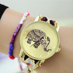 Hot Selling elephant dial sport watch/ 2015 New Popular fashion hand watch for girl/ lady watch