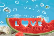 Still life fruit basket design digital oil painting