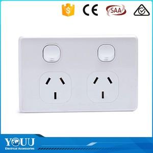 YOUU Serin Yenilik Ürünleri 10A Elektrikli Işık Için 2 Gang 2 Way Duvar Anahtarı Ve Priz