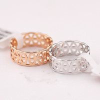 R115472 Elegant Crystal New Simple Rings Zinc Alloy 18K Rose gold Platinum Plated With import cyrstal Fashion Jewelry Wholesale