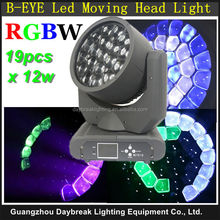 Stage B EYE 19 X 12W LED moving head light beam wash graphic B-EYE moving head RGBW 4IN1 LED NEW Stage Lighting