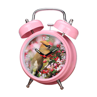 wholesale nature bird song sound alarm clock with double bell