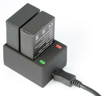 Go3+/3 Battery USB Dual Battery Charger