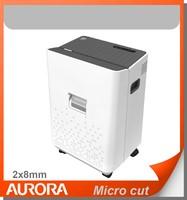 Aurora AS066 Plastic Paper Shredder, 6 sheet (A4) Micro cut 2x8mm, Light Duty Shredding machine for Home & Office