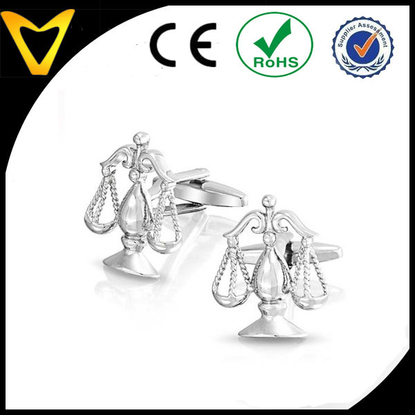 Libra Judge Lawyer Scales of Justice Cufflinks
