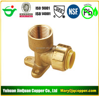 """Elbow Drop Ear 1/2""""MPT X1/2"""" Push Fit Lead Free cUPC NSF quick connect with PEX COPPER CPVC pipe"""