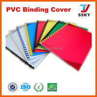 PVC cover plastic sheet book cover factory