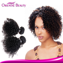 Promotional can customized wholesale hair piece oriental beauty hot sale natural curly hair weave human hair