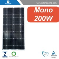 Efficiency, Guarantee & Power Output 200W solar module with 125 x125 mm Monocrystalline, 72 (6x12) pcs in series