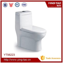 one piece squatting pan with cistern noiseless flush toilet