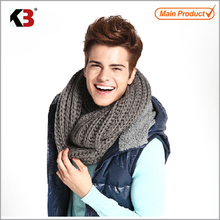 2015 Latest popular cable scarf knitting pattern hand make scarf one color knitted scarf