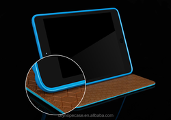 Dongguan factory For iPad Cases and Covers, Leather Stand Case -light blue
