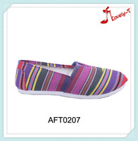 2016 lady colorful fashion flat handmade low price canvas shoes