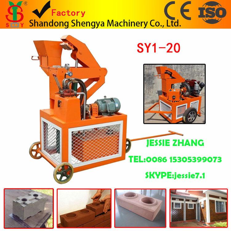 Interlocking Compressed Earth Block Machine : Sy eco brava compressed earth block machine diesel
