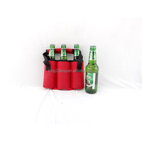 neoprene cooler with bottler opener/3 bottle wine sleeve with handle/bottle cooler bag holder